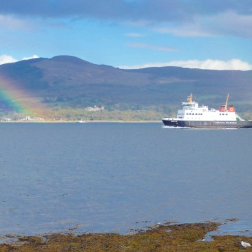 ferry and rainbow - nice name for a blog