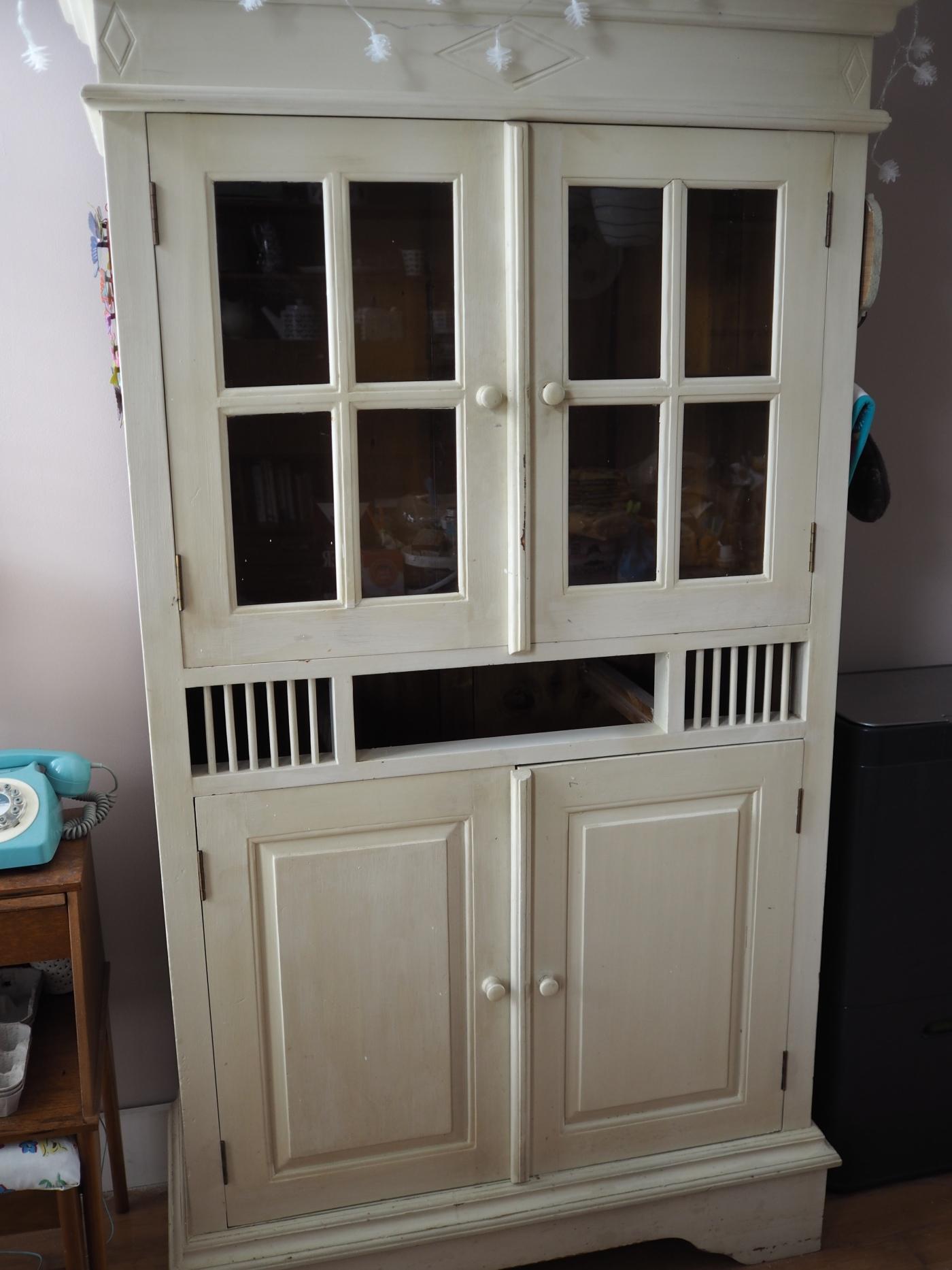 cream cabinet
